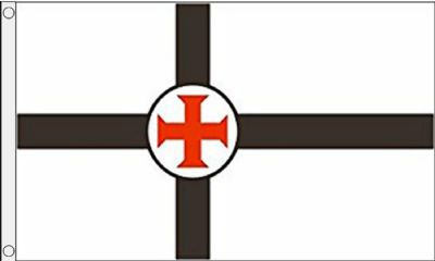 Knights Templar Cross 5'x3' (150cm x 90cm) Flag